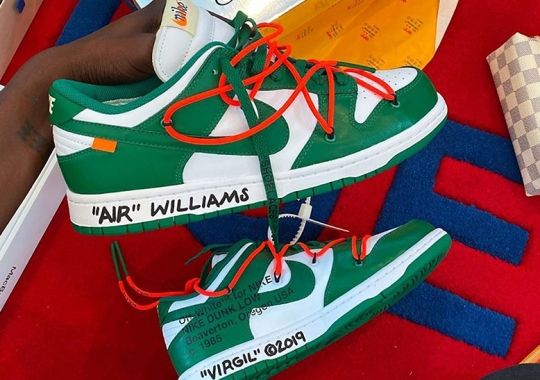 Virgil Abloh Shares A Look At Upcoming Off-White x Nike Dunk Low In Pine Green