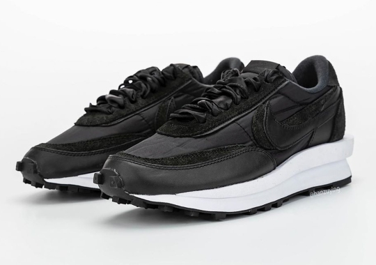 Detailed Look At The sacai x Nike LDWaffle In Black/White