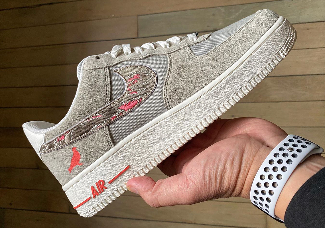 "Staple SBTG Nike Air Force 1 ""Pigeon Fury"" Custom 