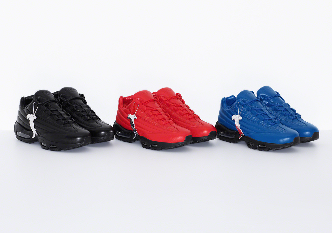 Supreme x Nike Air Max 95 Lux 'Red' 'Blue' 'Black' Release