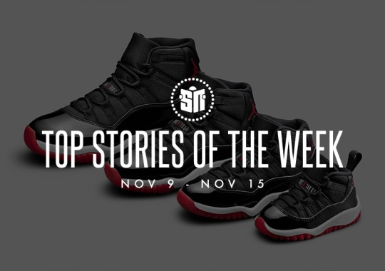 Fifteen Can't Miss Sneaker News Headlines from November 9th to November 15th