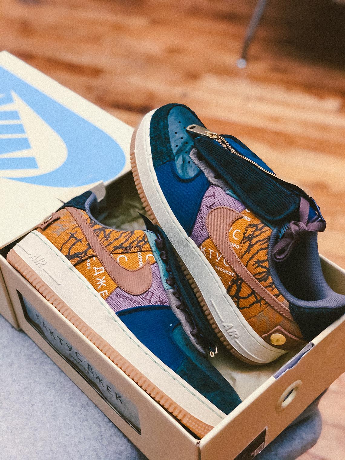 Travis Scott Air Force 1 Shoes Release Date Sneakernews Com