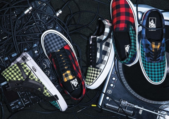 "The Vans ""Plaid Is Not Dead"" Pack Mismatches An Array Of Colors And Patterns"