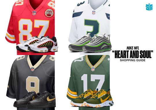 Rep The Heart And Soul Of Your Favorite NFL Team With These Nike Jersey/Footwear Pairings
