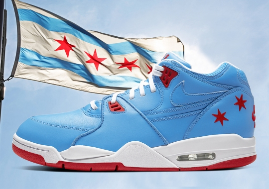 The Nike Air Flight 89 Imitates The Chicago Flag In Time For All Star Weekend