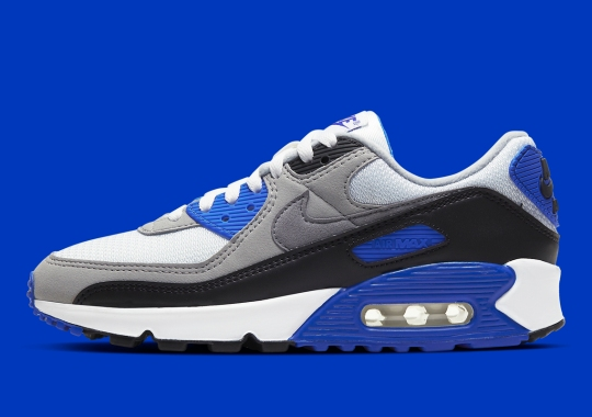 Nike's Revival Of The Classic Grey Air Max 90 Includes This Royal Blue Option