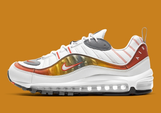 Nike Adds Orange Iridescent Panels To The Air Max 98