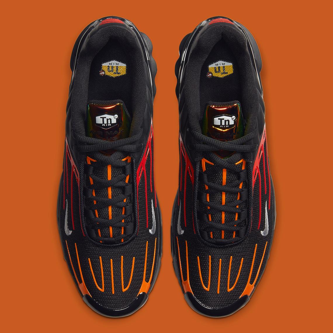 Nike Air Max Plus 3 Black Orange Red CV1643 001 Release Date