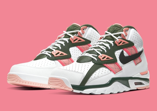 The Nike Air Trainer SC High Pairs Up Pink Quartz With Olive