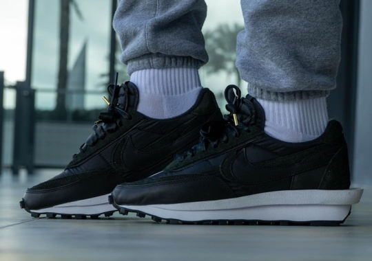 "On-Foot Look At The sacai x Nike LDWaffle ""Black Nylon"""