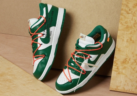 """Where To Buy The Off-White x Nike Dunk Low """"Pine Green"""""""