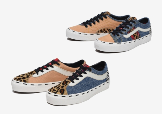 """The Vans """"Bender Pack"""" Dresses Up The Bold NI And Bess NI In A Mixed Patchwork"""
