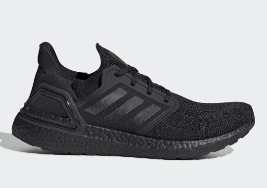 The adidas Ultra Boost 20 Retraces Its Steps With A Triple Black Colorway
