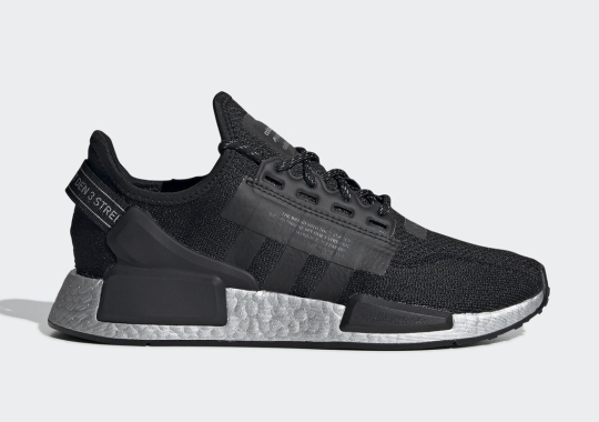 The adidas NMD_R1 V2 Gets Stealthy With A Black And Silver Colorway