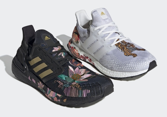 Souvenir Jacket And Floral Embroidery Adorn This adidas Ultra Boost Capsule