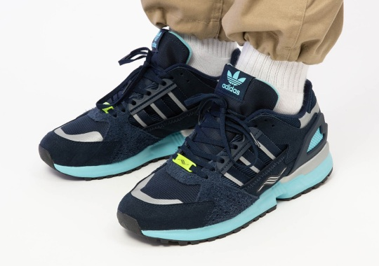 The adidas ZX 10.000C Gets Sharp Navy And Cool Aqua Uppers
