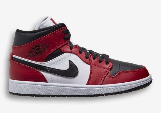"Air Jordan 1 Mid Gets A Familiar ""Chicago"" Colorway"