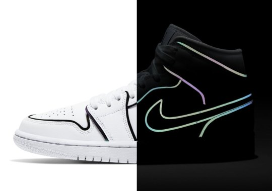 The Air Jordan 1 Mid SE For Women Adds Reflective Borders