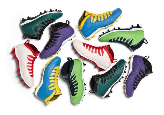 Jordan Brand Debuts Air Jordan 10 PE Cleats For Final Stretch Of NFL Season