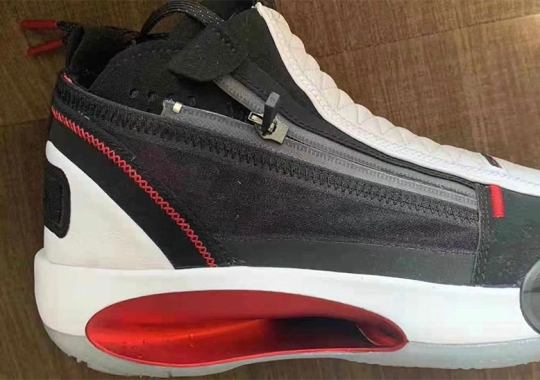 The Air Jordan 34 SE To Feature A Quilted Leather Shroud And Zipper