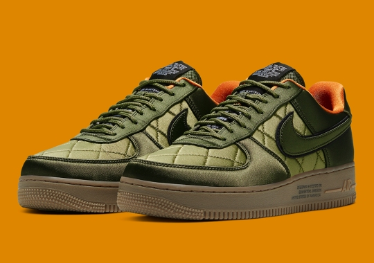 Nike Goes Heavy On Flight Jacket Themes With This Quilted Air Force 1