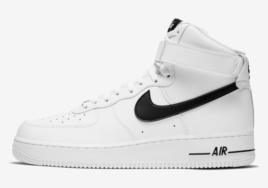The Ever-Classic Nike Air Force 1 High Appears In Sharp White And Black