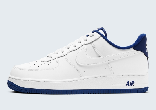 Nike Gives The Classic Air Force 1 Low A Clean White And Navy Option