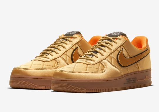 The Nike Air Force 1 Goes For A Golden Flight Jacket Aesthetic