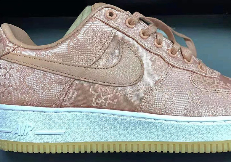 CLOT Nike Air Force 1 Rose Gold Silk | SneakerNews.com