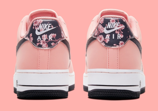 "Nike Adds Floral Patterns To The Air Force 1 Low ""Pink Quartz"""
