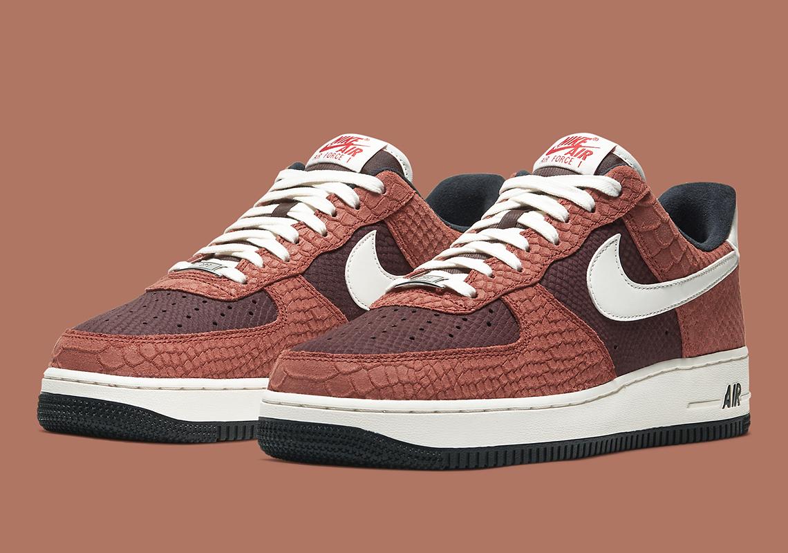 Nike Air Force 1 Snakeskin Brown CV5567 200 |