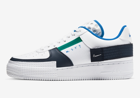Nike Adds Pops Of Green And Blue To The AF1 Type