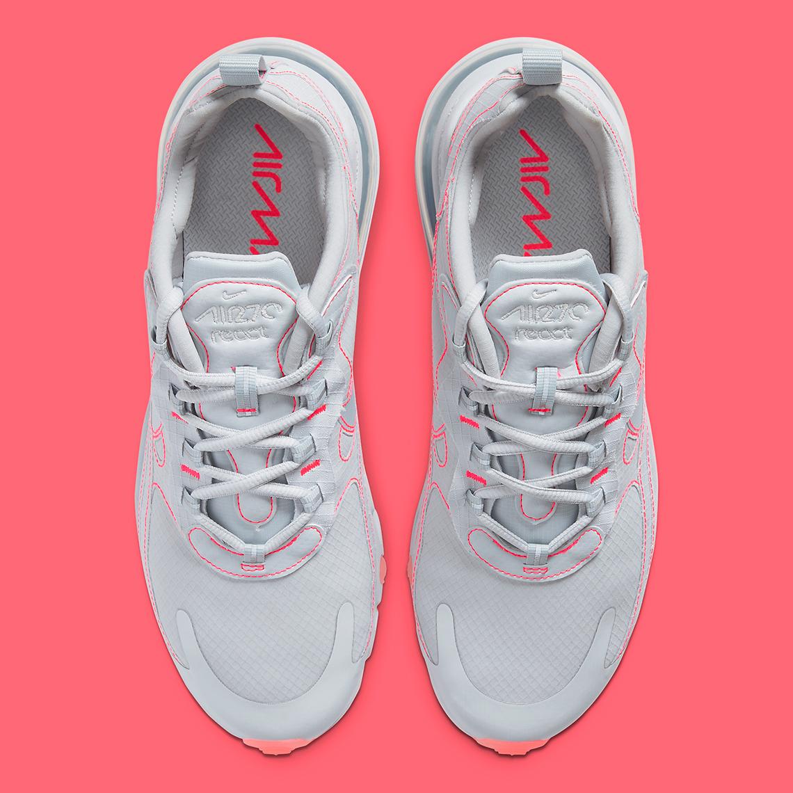 Nike Air Max 270 React Grey Crimson CQ6549 100 |