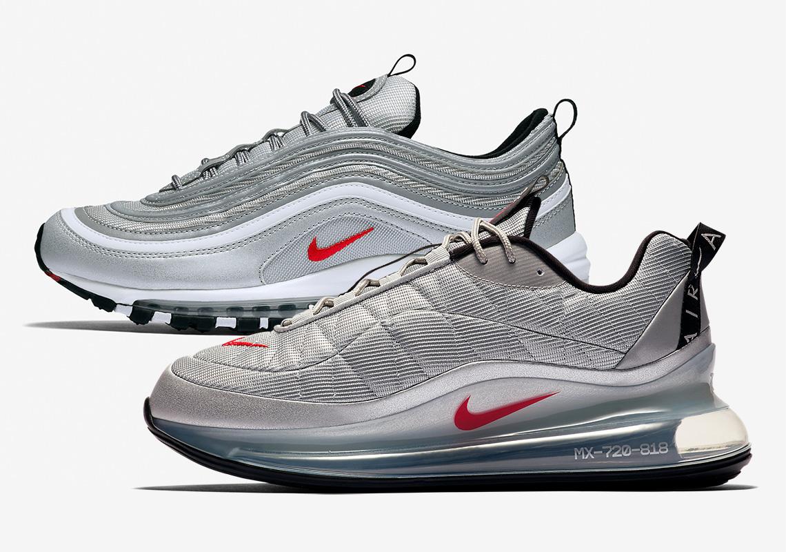 mimar juez textura  Nike Air MX 720-818 Silver Bullet CW2621-001 | SneakerNews.com
