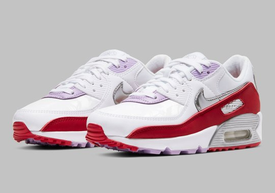 The Recrafted Nike Air Max 90 Celebrates Chinese New Year 2020 With Red And Silver