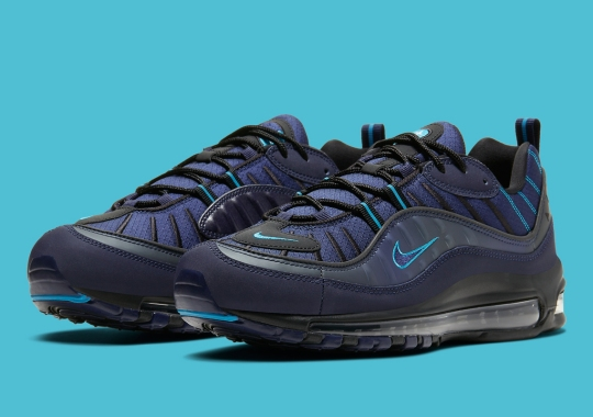 The Nike Air Max 98 Appears In Dark Navy And UNC Blue