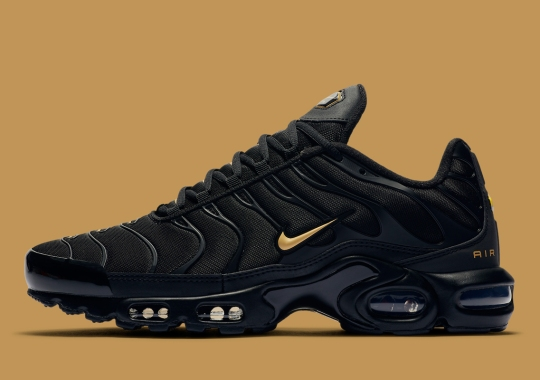 The Nike Air Max Plus Gets A Sharp Black And Gold Update