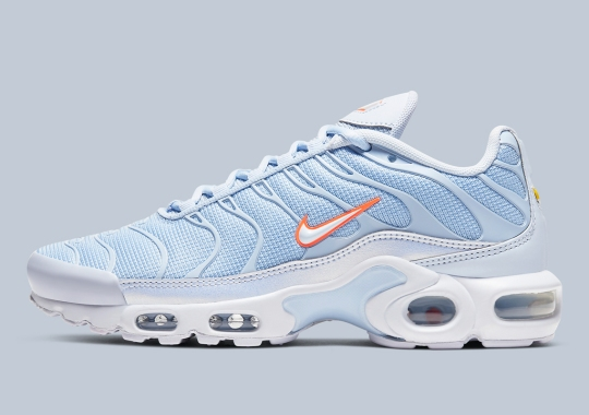 The Nike Air Max Plus Gets An Icy Blue And Orange Colorway