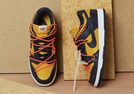 """Where To Buy The Off-White x Nike Dunk Low """"Michigan"""""""