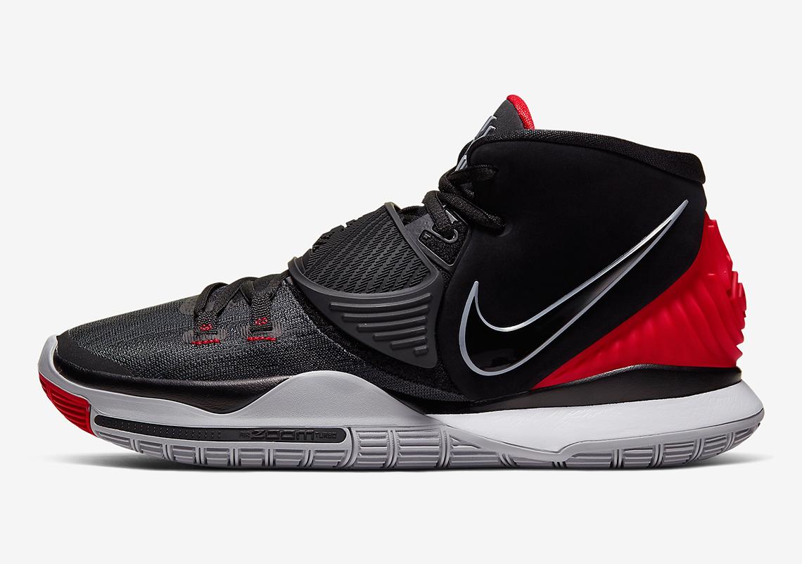 Nike Kyrie 6 Black University Red White