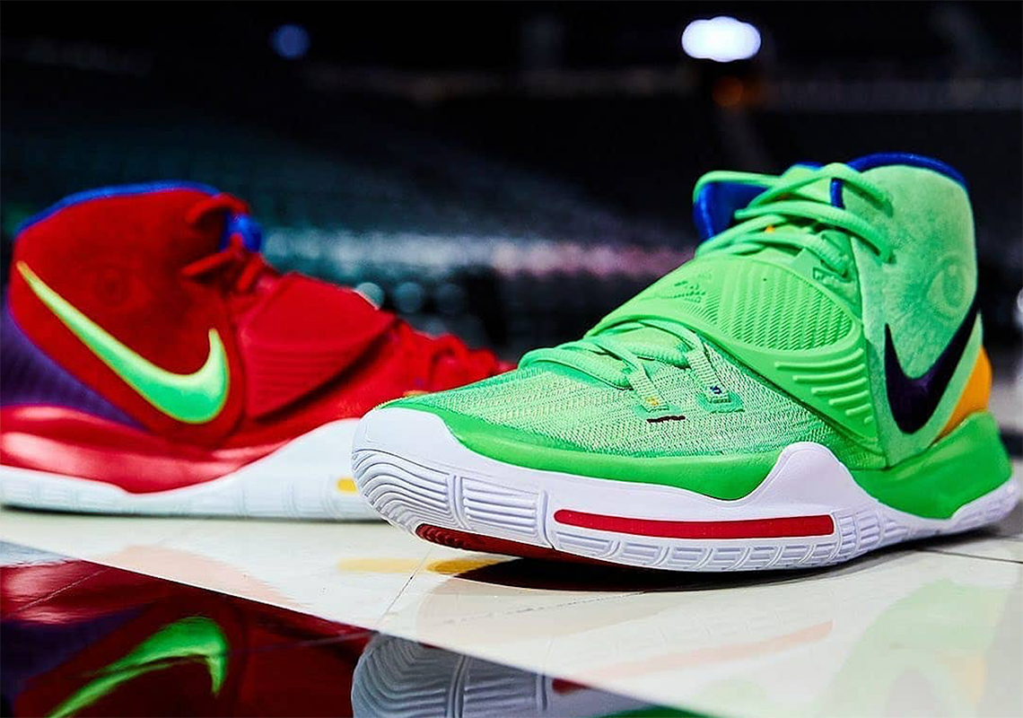 Nike Kyrie 6 PE Mismatch Green Red