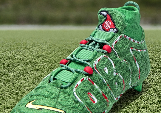 Odell Beckham Jr. Celebrates The Holiday With Grinch Inspired Nike Cleats