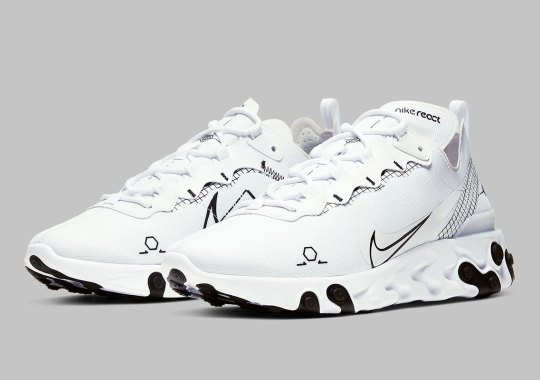 "The Nike React Element 55 ""Schematic"" To Release In White And Black"