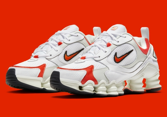 The All-New Nike Shox Nova For Women Arrives In White And Red