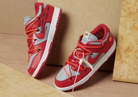 """Where To Buy The Off-White x Nike Dunk Low """"UNLV"""""""