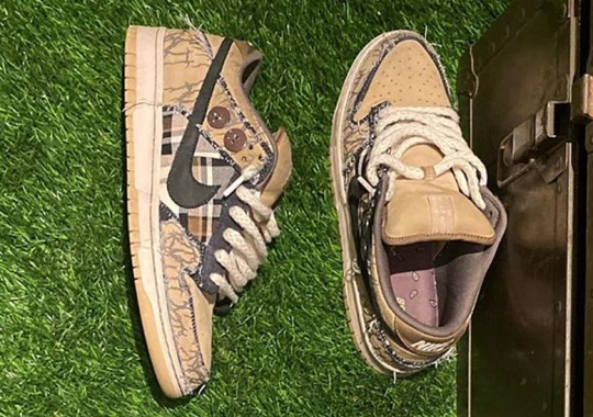 Travis Scott Shares A Closer Look At His Upcoming Nike SB Dunk Low