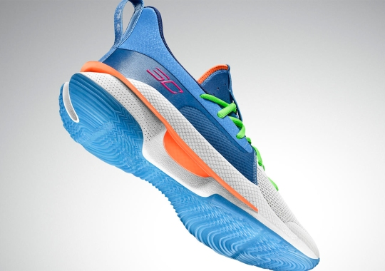 Steph Curry Continues The UA Curry 7 Collaborations With NERF's Super Soaker