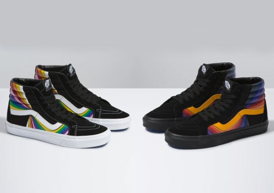 """The Vans Sk8-Hi """"Refract Pack"""" Features Psychedelic Side Stripe Detailing"""
