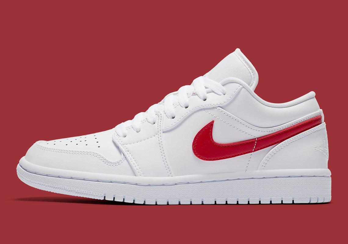Air Jordan 1 Low White Varsity Red Ao9944 161 Sneakernews Com