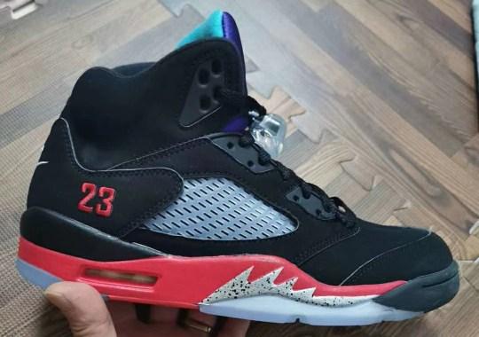 """Best Look Yet At The Air Jordan 5 """"Top 3"""""""